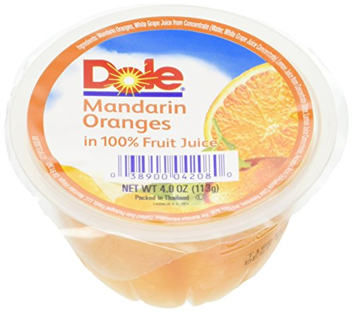- Dole Mandarin Oranges in Light Syrup, 4-Ounce Containers (Pack of 36)