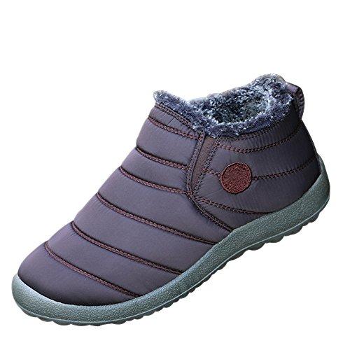 Stivaletti Stivaletti Boots Marrone Unisex Uomo Piatto Caldo caffè caffè caffè da Neve Blu Stivali Nero Caviglia Sneakers Rosso KINDOYO Sportive Donna Invernali Uomo Scarpe Adulto Moda wqRxOAPO
