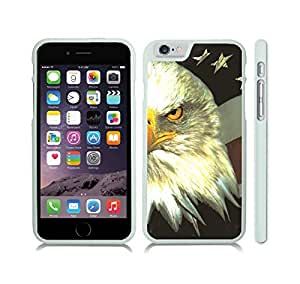 iStar Cases? iPhone 6 Plus Case with Bald Headed Eagle Patriotic Symbol Design , Snap-on Cover, Hard Carrying Case (White)