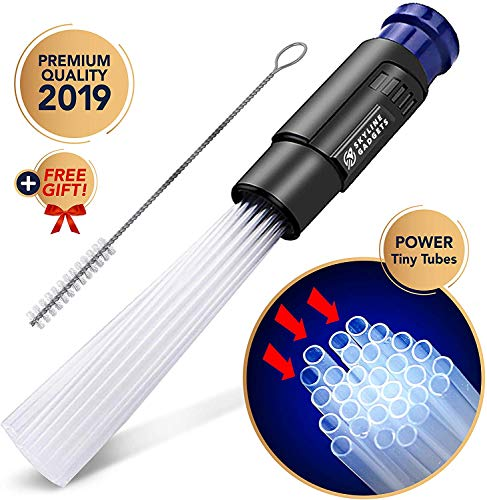 Universal Vacuum Attachment Tool, Tiny Tubes Cleaner, Dusty Brush, Flexible Suction, Dirt Sweeper, Dust Cleaning Great for Car /Pets/ Keyboards/Air Vent /Drawers Dust - Attachment Tool Vacuum