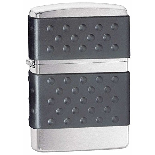 Zippo Brushed Chrome with Black Zip Guard Zippo� Windproof Lighter