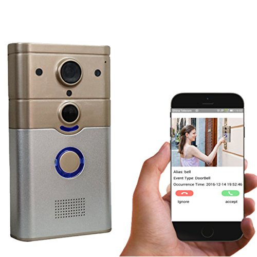 Pomiacam ZJ008 Wifi Video Doorbell, Wireless Video Intercom Smart Doorbell with 720P HD Camera,Ring Chime,P2P Cloud Record,Night Vision, PIR Motion Detection,Tamper Alarm,IOS and Android App -  AUTOPVISION
