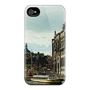 New Tpu Hard Case Premium Iphone 4/4s Skin Case Cover(rokin Amsterdam)