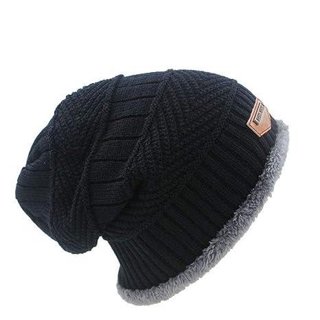 ShirleyaWei 6 Colores de Punto Adulto Unisex Hombres Sombrero ...