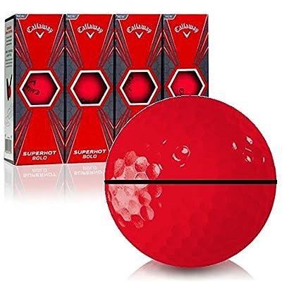 Callaway Golf Superhot Bold Matte Red AlignXL Personalized Golf Balls