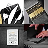 "Talvania Cloth Dinner Napkins - 12 Pack Luxuriously Soft & Hotel Quality Cotton Napkins, Brilliant Fabric Napkins (18"" X 18"") Perfect for Events, Hotel & Home Use"