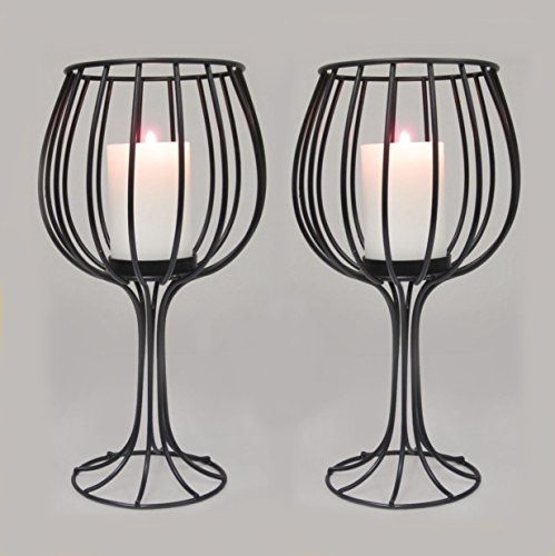 Rustic Mantel Décor That Will Adorn Your Bored To Death: Adorn Wine Cup-shaped Candle Holder