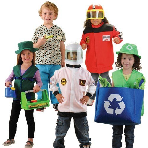 Constructive Playthings CPX-1149 Kid's Community Helpers Outfits Set of 5 by Constructive Playthings