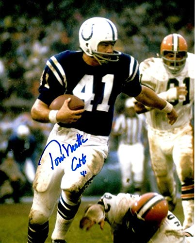 Autographed Signed Tom Matte 8x10 Baltimore Colts Photo - Certified ()