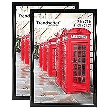 MCS Trendsetter Poster Frame (2 Pack), 16 X 24-Inch, Black