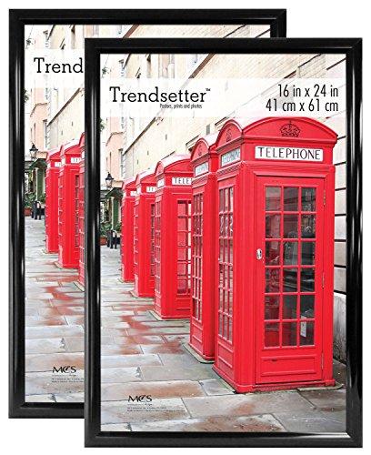 MCS Trendsetter Poster Frame, 16 by 24-Inch, Black, 2-Pack, 16 x 24,