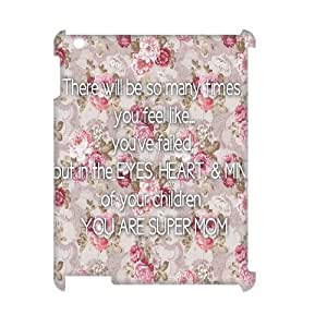 Customized There Will Be So Many Times You Feel Like iPad 2/3/4 3D Cover Case, There Will Be So Many Times You Feel Like Custom 3D Phone Case for iPad 2,iPad 3,iPad 4 at Lzzcase