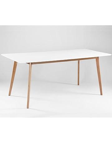 999d6ce7ccce56 ComptoirXL Table à Manger Design scandinave AIKA XL 180 cm x 80 cm chêne et  Blanc