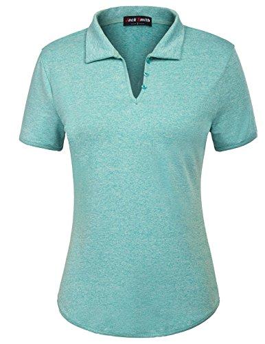 Jack Smith Women's Dry-Fit Golf Polo Shirts 3-Button Shirts (3 Button Golf Shirt)