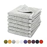 Jameswish Quality Cotton 6-pack Washcloths Luxury Thickening Cotton Small Hand Towels (14x14inches) Highly Absorbent and Soft for Face, Hand, Gym & Spa