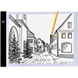 A4 Ultra-thin Portable LED Light Box tracer USB Power LED Artcraft Tracing Light Pad Light Box for Artists,Drawing...
