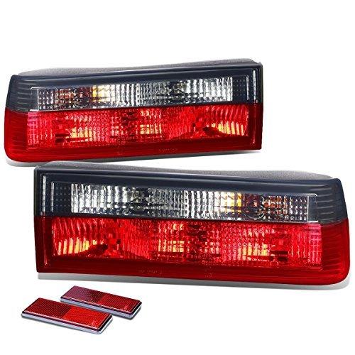 CHROME HOUSING RED REAR BRAKE+SIGNAL TAIL LIGHT FOR 83-91 BMW E30 3-SERIES/M3