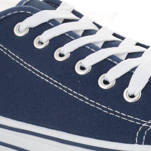 Footwear Sensation - Zapatos de cordones para mujer negro negro negro - azul marino