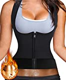 Ursexyly Waist Trainer Sauna Suit Vest Hot Sweat Shaper Promotes Workout Heat dissipation (L, Black)