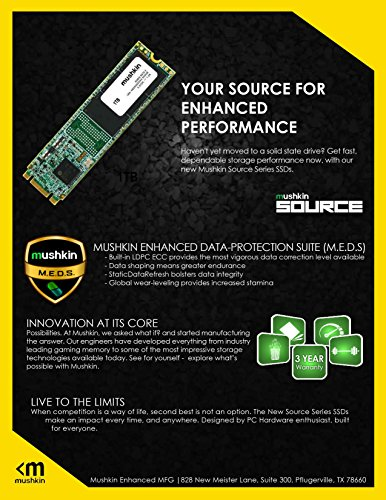 Mushkin SOURCE M.2 – 250GB SATA-III M.2 (2280) – 6Gb/s – Internal Solid State Drive (SSD) – 3D TLC – (MKNSSDSR250GB-D8) by Mushkin (Image #5)