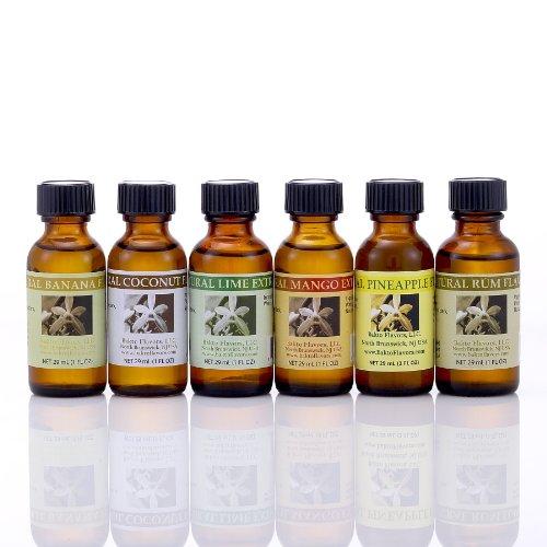 Bakto Flavors Natural Collection, Tropical, Six pk, 1oz - Rum Pineapple