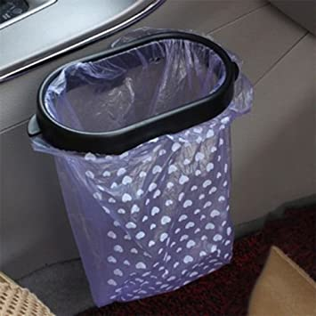 Car Garbage Trash Bin Carry Bag Sucker Trash Can Rack Hanger Organizer Waterproof-1pc