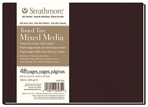 Strathmore ((469-305 400 Series Hardbound Toned Tan Mixed Media Art Journal, 8.5