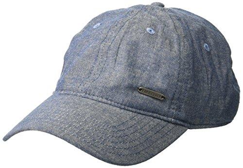 Van Heusen Men's Chambray Denim Baseball Cap, Adjustable, Navy, One Size