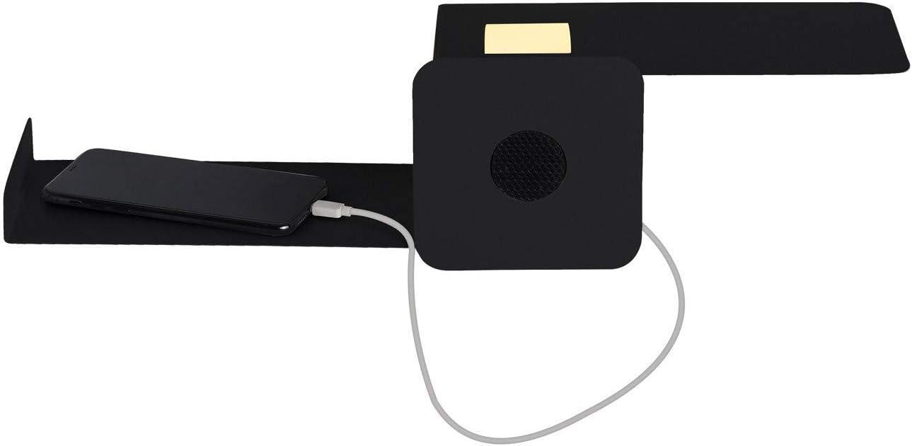 LEDKIA LIGHTING Aplique LED Damon 10W con altavoz Bluetooth y Reproductor USB Blanco