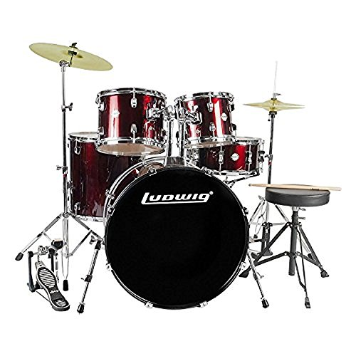 Ludwig Accent Fuse Drum Set in Red Foil finish -  LC17014