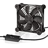 KOTTO Big Airflow 120mm Fans DC 5V Powered Fan with 3 Speed Control, Cabinet Chassis Cooling Fan, Server Workstation Cooling