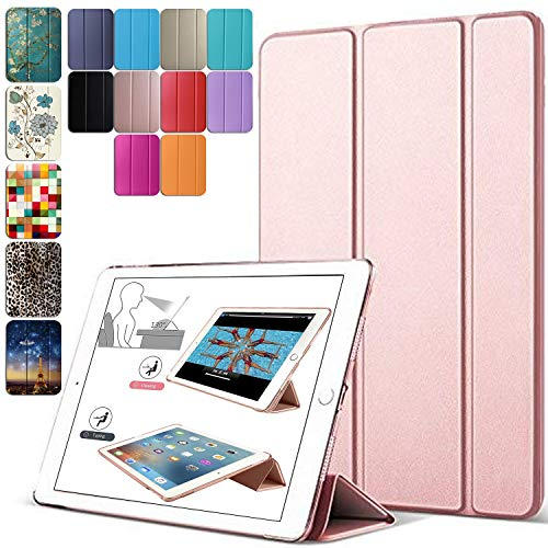 DuraSafe Cases For iPad 10.2 Inch 2019 Slimline Series Lightweight Protective Cover with Dual Angle Stand & Froasted PC Back Shell – Rose Gold
