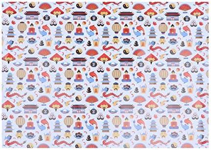 Toyvian 中国の伝統的な包装紙作りの装飾DIYのペーパークラフト10枚(ドラゴン)