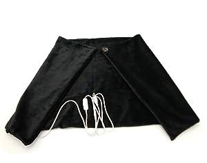 "H-Hour USB Heated Shawl, Warm Electric Throw Flannel Blanket Heating Cushion Pad Blanket - ON/Off 36""X24"" (Black)"
