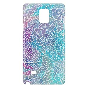 Loud Universe Samsung Galaxy Note 4 3D Wrap Around Polygonal Print Cover - Multi Color