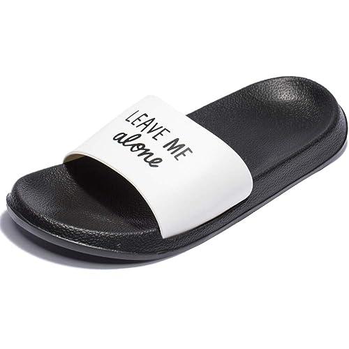 new concept 0d1d6 9fb2f Fendou House Sandal for Women Anti-Slip Bath Slipper Indoor Floor Slipper  2018 Blackwhite