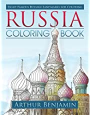 Russia Coloring Book: 8 Famous Russian Landmarks for Coloring
