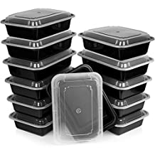 Heim Concept Premium Meal Prep Food Containers with Lids Durable Reusable Top Rack Dishwasher Safe Leak-Resistant Microwavable Compact Stackable Storage Meal Prep To-Go Container Convenience 12-pack