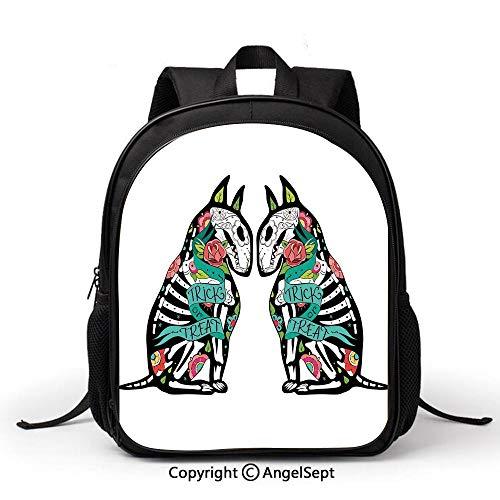 Cute School Backpacks Book Bag,Halloween Decorations,Skeleton Demon Figures