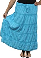 BombayFashions Full Length Womens Ethnic Peasant Bohemian Gypsy Skirt 30 COLORS