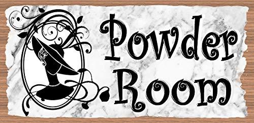 GiggleSticks Powder Room Sign - Powder Room Plaque - Bathroom Sign