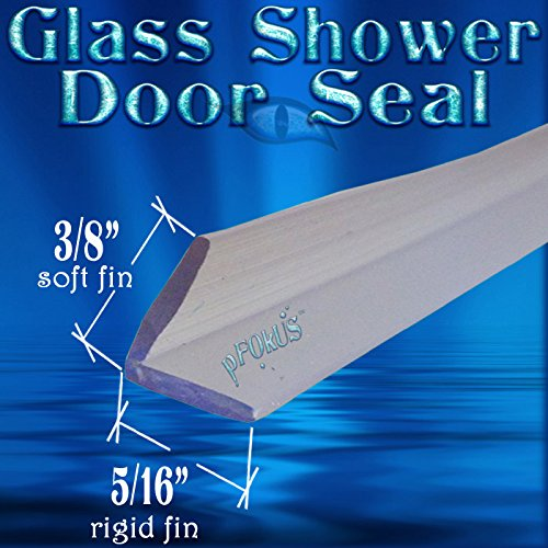 DS104 Glass Shower Door Seal to fill a gap - 98'' (2.49 Meter) Length - $50 FREE SHIPPING!!! by pFokus