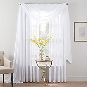Amazon Com Smart Sheer 95 Inch Insulated Linen Voile Rod