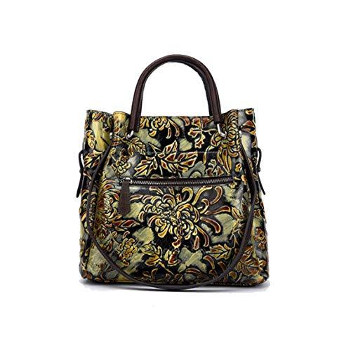 Dames De Sac à Yellow Bandoulière Fait Sac Style Style Rétro Mode Chinois AJLBT Fleurs à Simple Main La q5xEOS6w