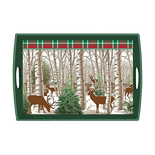 (Michel Design Works Wooden Decorative Tray, Winter Woods, 20 x 13.75)
