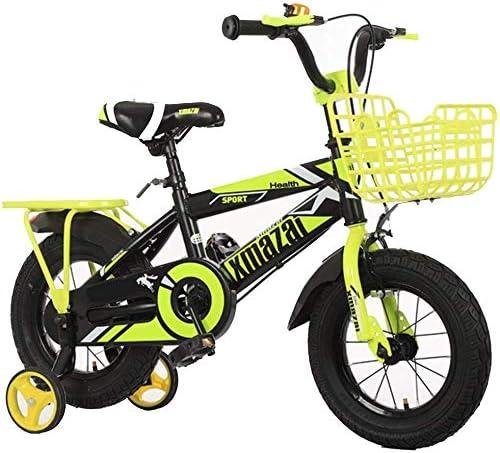Oanzryybz Bicicletas niños de 2-9 años, for niños Bicycl, e Bici del niño de la Muchacha del Muchacho, con estabilizadores, el 95% montado, 3 Colores, Son de tamaño 12, 14, 16, 18