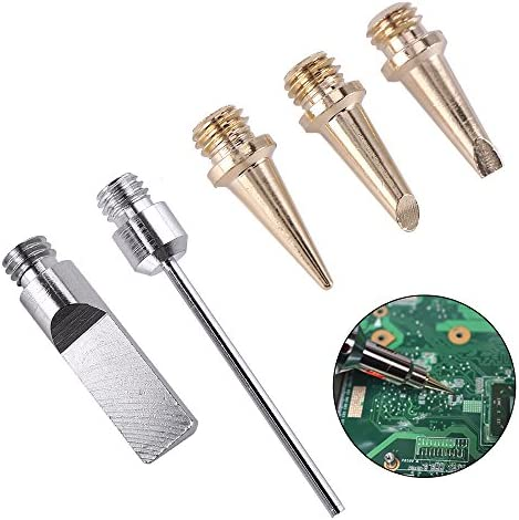 Queenwind 5pcs 自己点火ガスはんだアイロンコードレス溶接キットトーチ点火ブタンはんだ鉄のヒント