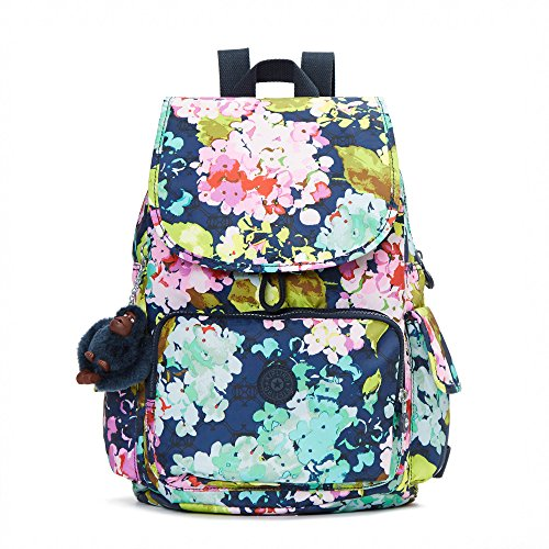 Kipling Women's Ravier Medium Printed Backpack One Size Luscious Florals Blue Cargo Lip Pencil