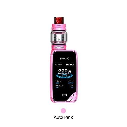 Smok X-Priv Kit TFV12 Prince Tank 8ML Atomizador 225W Box Mod 2000 mAh Batería Cigarrillo electrónico Kit - Sin Nicotina No E Liquid (Coche Rosa)