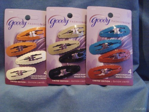Goody FashioNOW Florence Snap Clips 4 Count Assorted Colors by - Florence The Mall